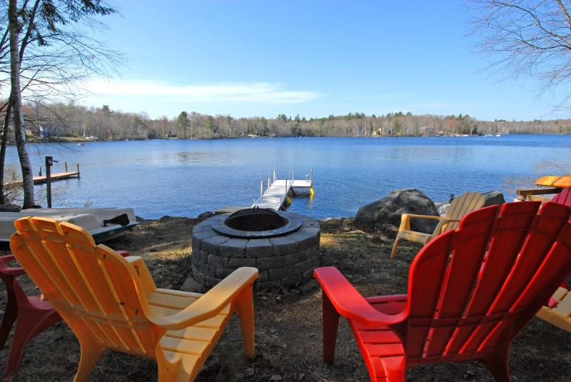 Firepit at the waters edge - Private Lakefront Home located close to Beaches! - Lyman - rentals