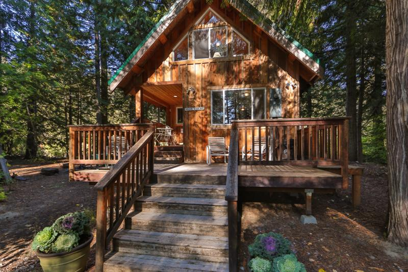 Entry Side of the Osprey Nest - Charming and Secluded Riverfront Cabin-Osprey Nest - Plain - rentals
