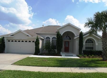 Front of house - Green Paradise, 5BR,4BA Pool Spa, FALL Deal   179 - Clermont - rentals