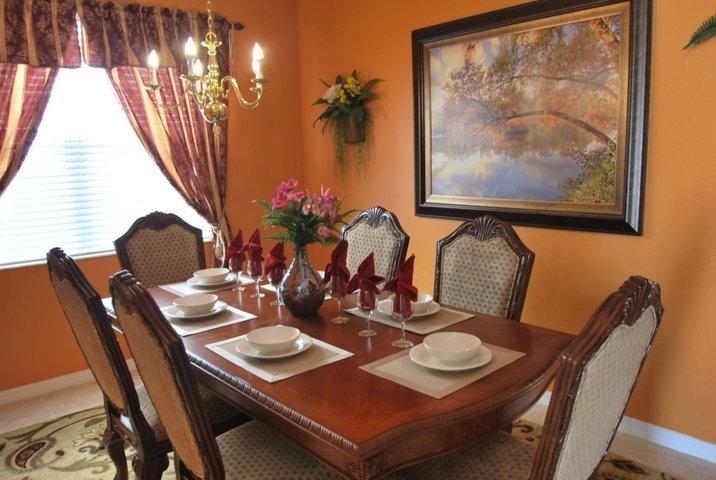 Formal Dining Room - New luxury 7 bdrm, 4.5 Bath, Pool, 10min to Disney - Davenport - rentals