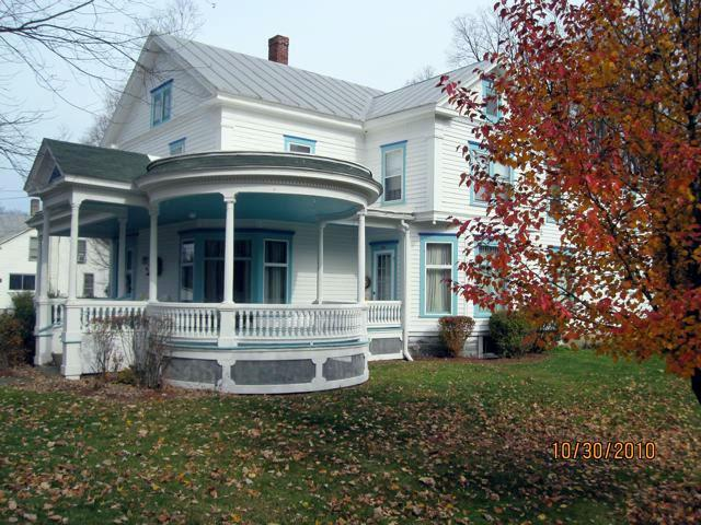 Wilbur Guest House taken from the North. - Wilbur Guest House, Victorian in the country - Cincinnatus - rentals