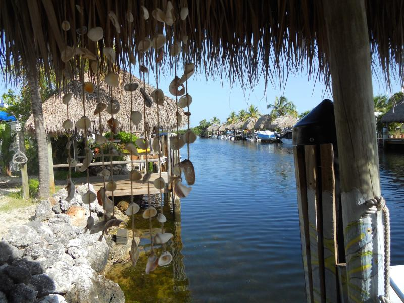 Canal East View - Playa Penelope - your own Tiki & Boat Dock - Key Largo - rentals