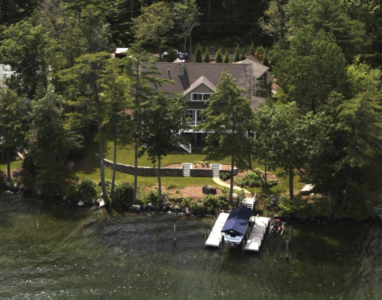 Aerial View - Luxury Home on Lake Winnipesaukee  - Gilford, NH - Gilford - rentals