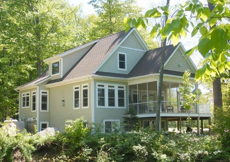 Cottage from Ridge. Lake is behind me. - Beautiful Views & Beach; Attractive Lake Michigan - Montague - rentals
