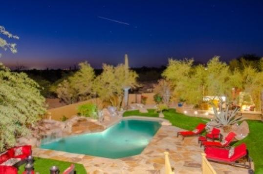 gorgeous view of desert from balcony of home! - Awesome 5 Star Luxury Estate, Resort Style Bckyard - Carefree - rentals