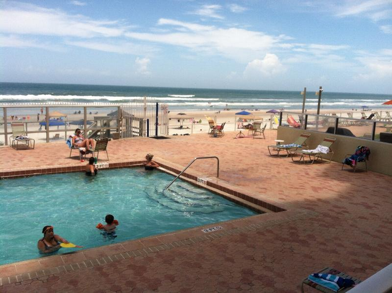 heated pool next to beach - Direct Ocean Front 2 BR/2 BA - Daytona Beach - rentals
