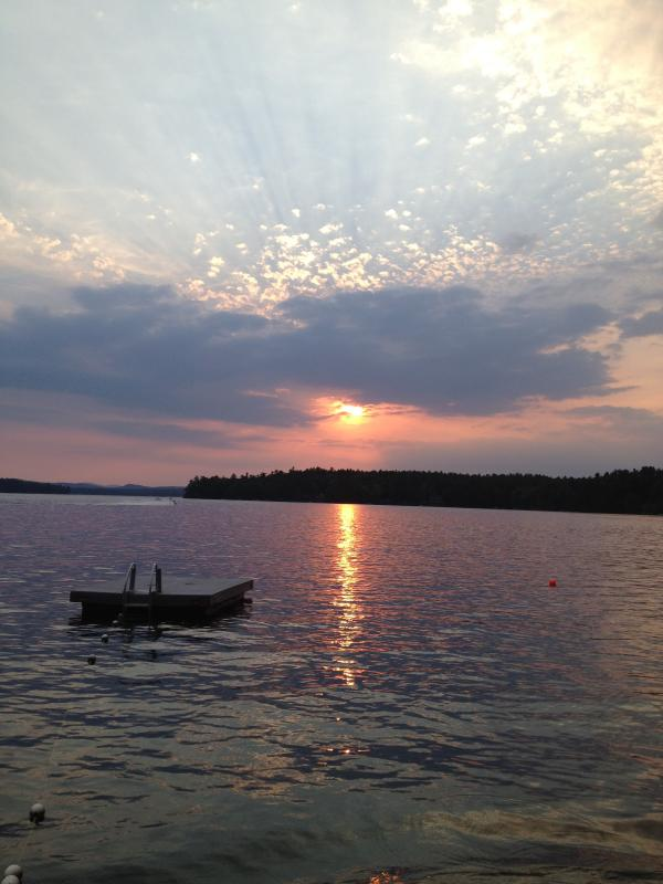 Sunset from Beach - Cottage on Beautiful Great East Lake - Acton - rentals