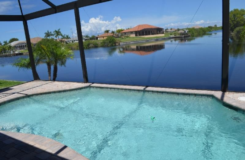 view of inter section gulf access canals  20 minutes w. boat to Gulf of Mexico. - WATERFRONT LUXURY NEW HOME VILLA EXCLUSIVE - Cape Coral - rentals