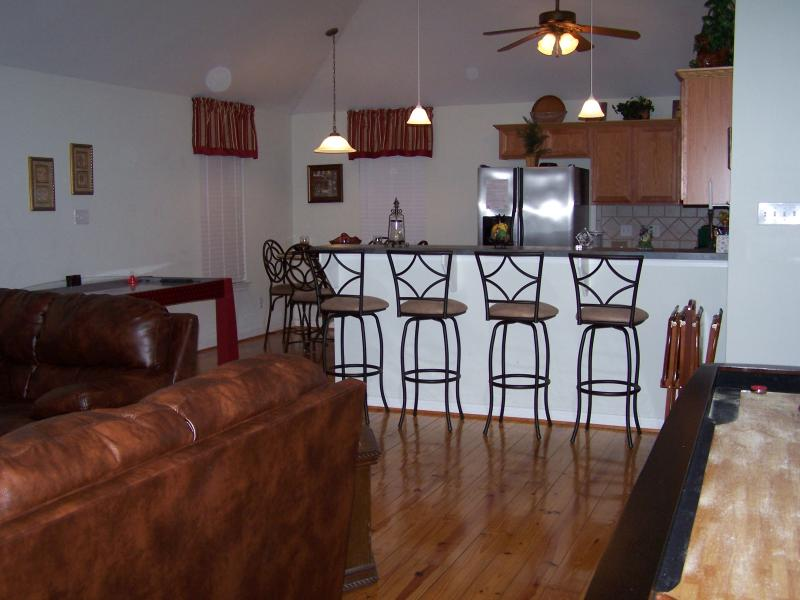 View of Kitchen from Entry - Awesome Beach House in Jamaica Beach Galveston ! - Jamaica Beach - rentals