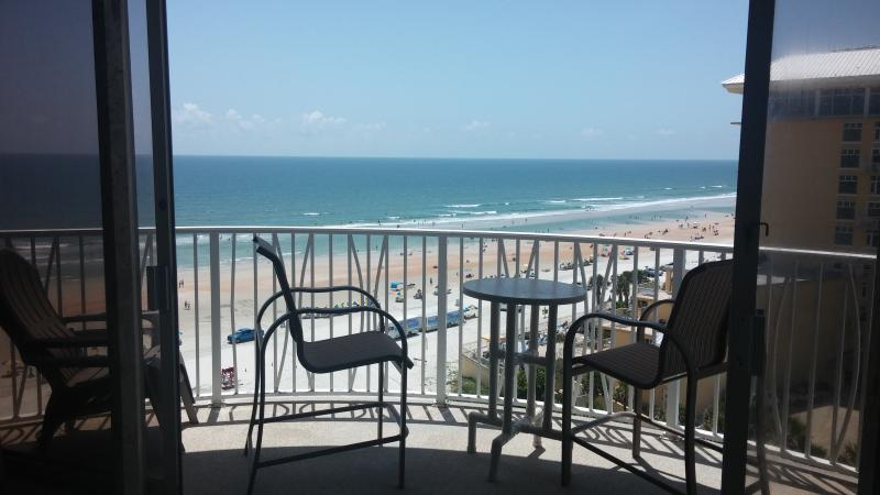 Enjoy oceanfront views - new patio furniture 2015 - Upgraded Oceanfront at Peck Plaza - Daytona Beach Shores - rentals