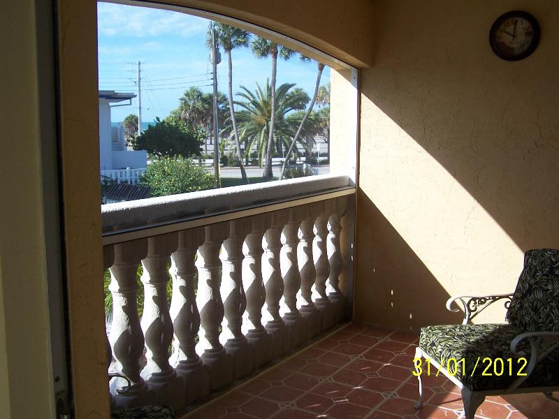 Lovely screened balcony with Gulf view for morning coffee, and evening skies - Condo Rental Next to Lido  Beach! - Sarasota - rentals