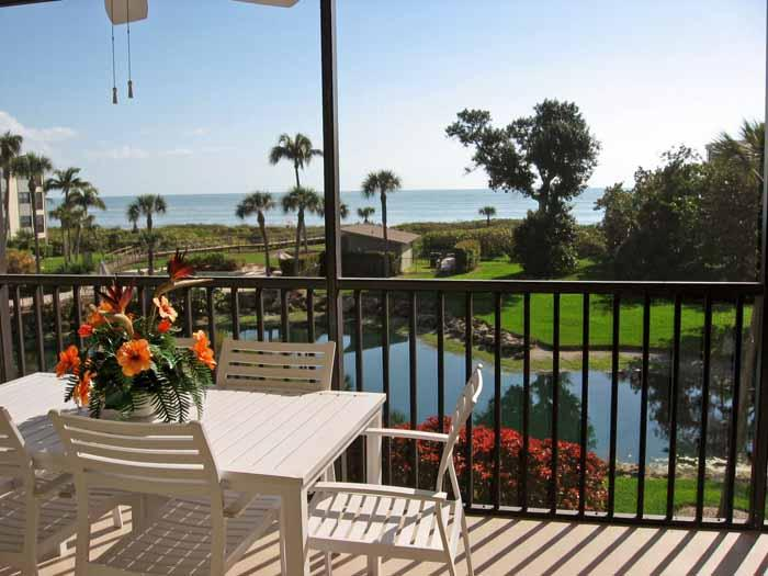 View from Lanai - Beach Front 2BR Condo with Breathtaking View - Sanibel Island - rentals