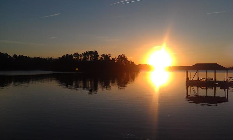 Sunrise from the dock on the beautiful Lake Keowee! - GILHOOLEY'S LAKEFRONT- SPRING   1 WK-DEEP WATER - Seneca - rentals