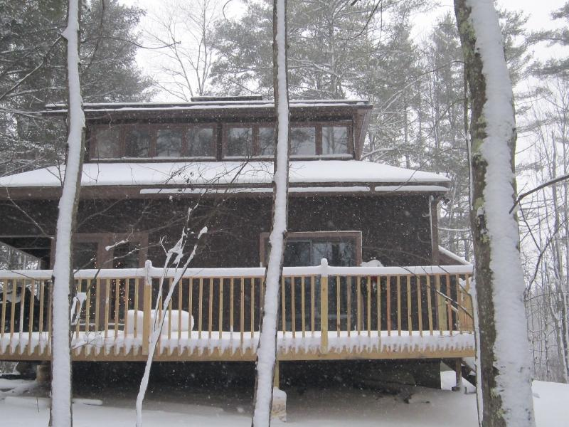Side view of the house - VT Luxury home on 40 acres near skiing & Bridges - Shaftsbury - rentals