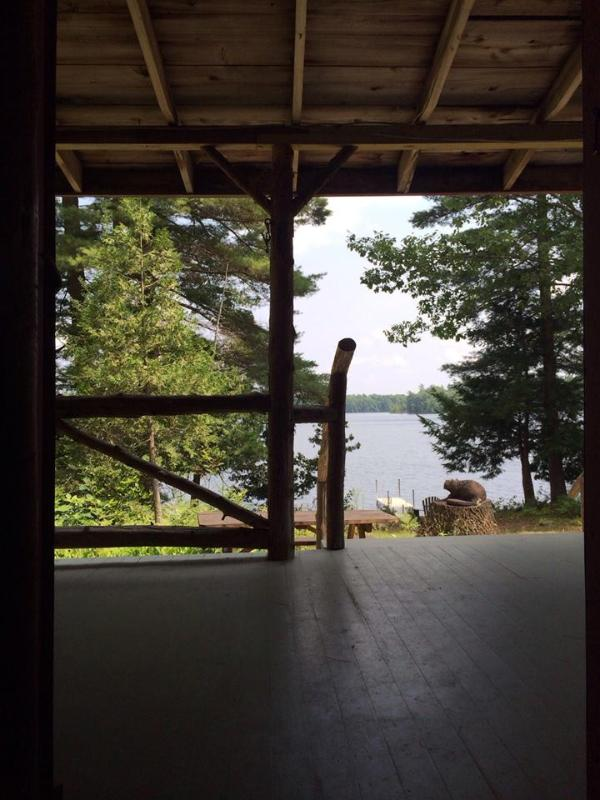 View from porch of main cabin - Charming Lakefront Cabin, Great View, Private Dock - Winthrop - rentals