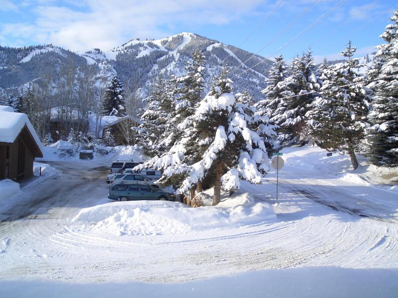 MT. BALDY FROM LIVING ROOM, PATIO & QUEEN BEDROOM - Adult and Upscale  2 blocks to town center - Sun Valley - rentals