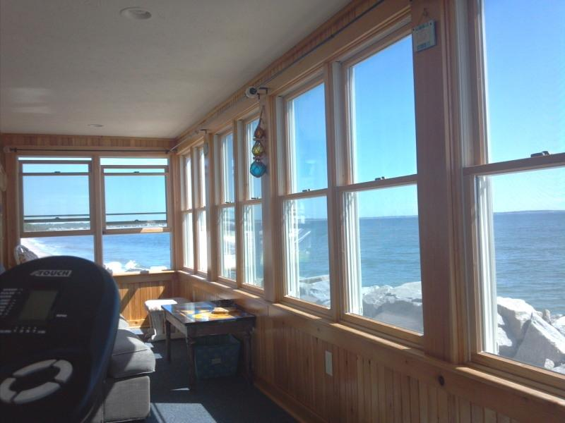 Awesome view from Porch - BEACON INN-OCEANFRONT, AWESOME VIEWS. Pet possible - Saco - rentals