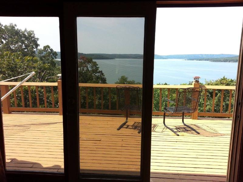 Enjoy your coffee or another beverage on the upstairs deck. Your view! - Amazing Lake Front & View, Private Home - Indian Point - rentals