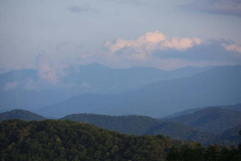 Actual view from our cabin!! The side of the cabin facing this view is all glass - Summer Special Stay 6 Nights Get 7th FREE!!  Awesome View! Hot Tub,Pool Table - Sevierville - rentals