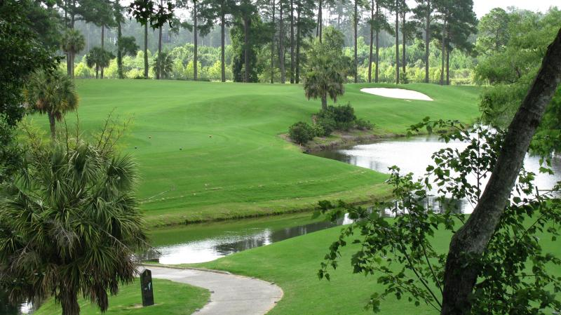 view from balcony of 4th Hole Cypress side of Arrowhead golf course - Stunning 2 Bedroom Condo in Golf Location with WiFi, Near Airport - Myrtle Beach - rentals
