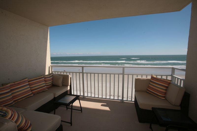Balcony - FANTASTIC OCEANFRONT CONDO - A PIECE OF HEAVEN - New Smyrna Beach - rentals