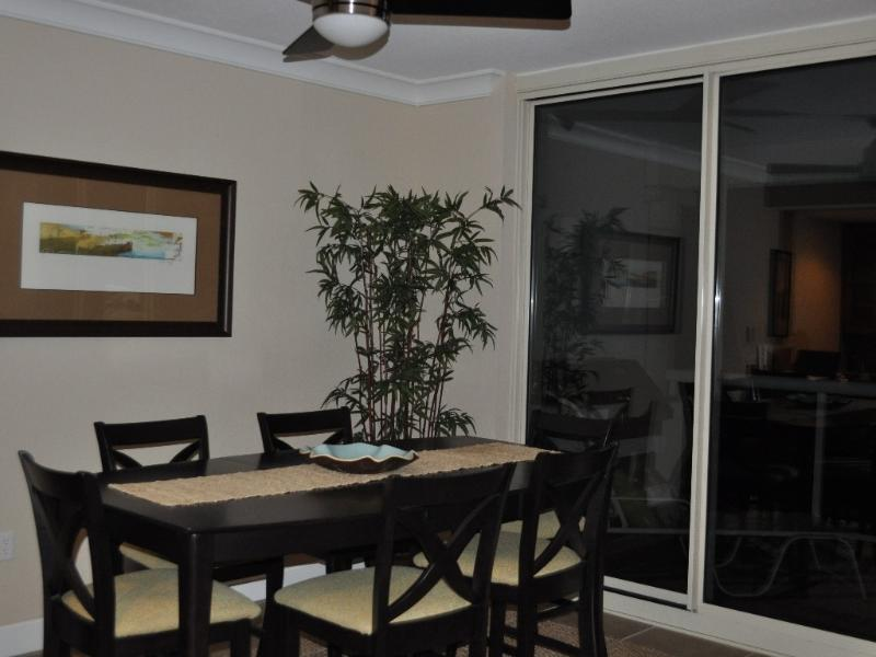 Dining room next to balcony overlooking Gulf of Mexico - Beach Club Towers; 15th Floor; 3/3; Beautiful View - Pensacola Beach - rentals