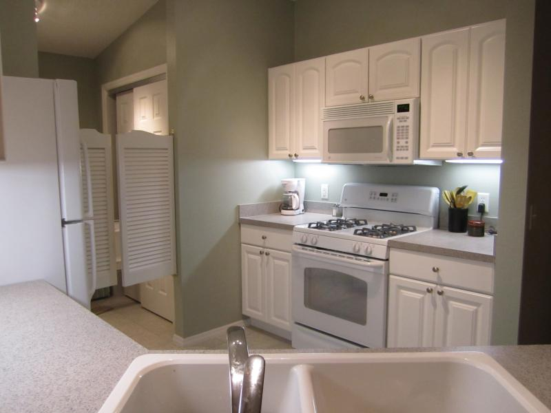 Beautiful kitchen with soft Florida colors and under cabinet lighting! - October, November, December Deals!!!  Patio Villa - The Villages - rentals