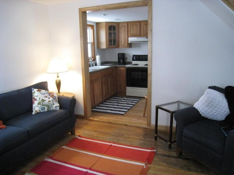 Living Room looking to Kitchen area - FOGARTY Pets Okay, WIFI, A/C & Walk to Beach - Old Orchard Beach - rentals