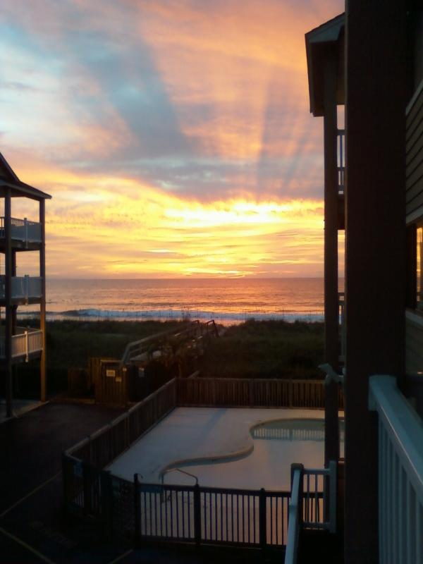 Just sorta makes the cup of coffee taste bettrer - Oceanfront Vacation Complex...2 Pools - Carolina Beach - rentals