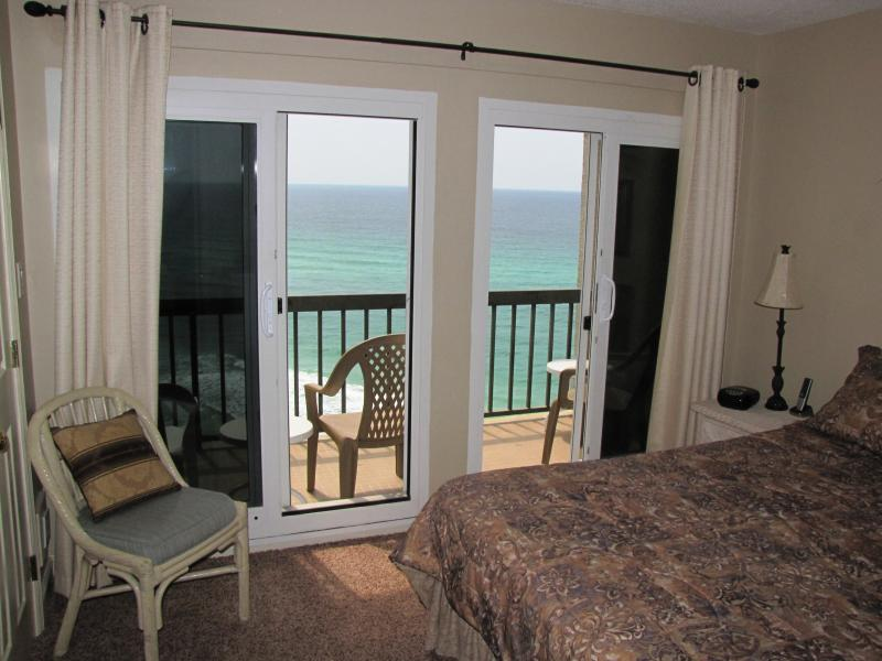 Master Bedroom - balcony on beach - awesome View - AWESOME SUMMER rates, on the BEACH, Gated Resort! - Panama City Beach - rentals