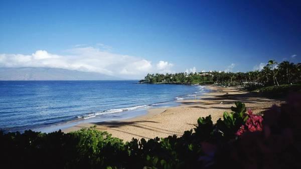 Wailea Beach ~ Closest Beach - Sunset on Lanai  Wailea: Best Weather on Maui - Kihei - rentals