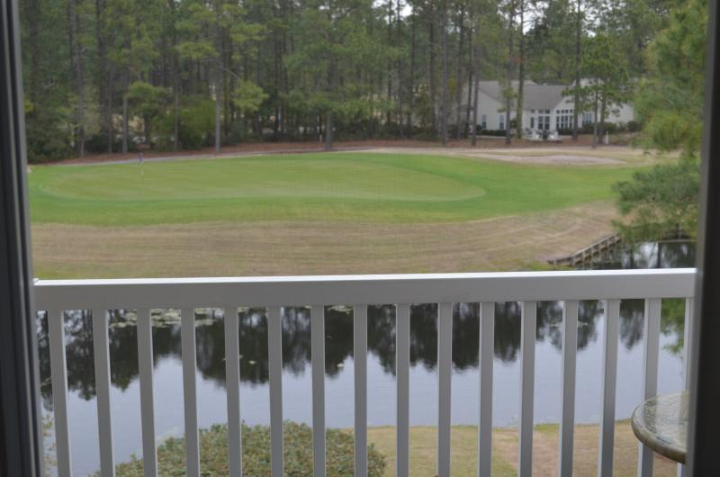 Balcony - Sandpiper Golf & Beach Condo - Sunset Beach - rentals