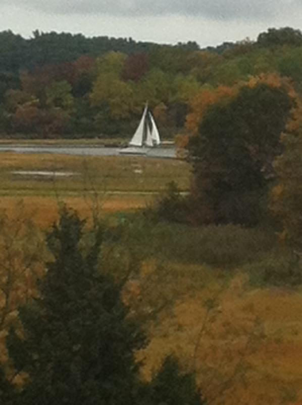 See sailboats on the Essex River from each main room in the townhome - Great Marsh Luxury Townhome - Essex - rentals