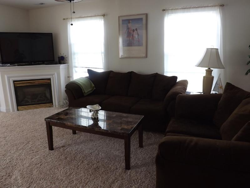 "Living room with 55"" TV - Your Rehoboth Summer vacation is here!! - Rehoboth Beach - rentals"