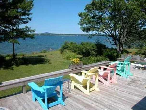 """Expansive lawn leads to tidal shorefront steps - """"Sea-Cure""""..All The Medicine You Need - Trenton - rentals"""