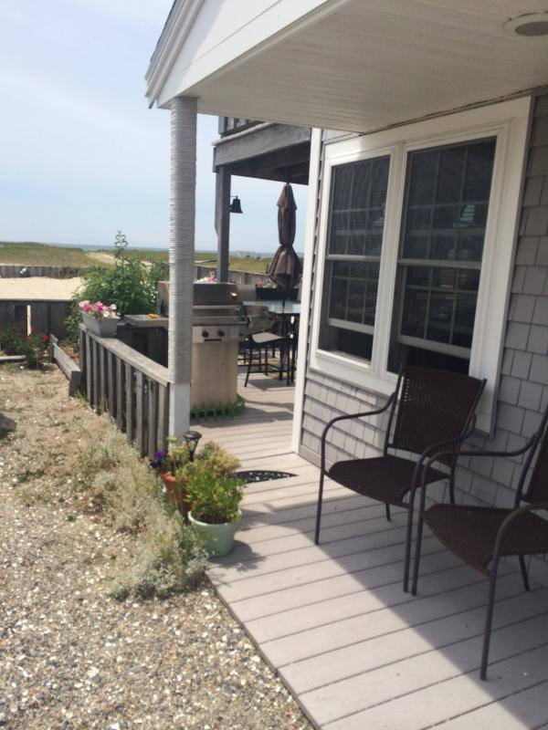 Front looking toward the bay - Beachfront Cottage for Rent- JUNE discounts! - Truro - rentals