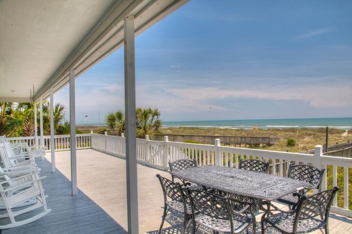 Take your dinner outside and enjoy dining with the ocean breeze! - Reduced for Spring! Oceanfront Luxury, Privacy - North Myrtle Beach - rentals