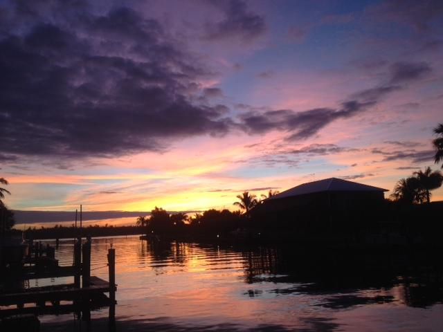 Back Yard Sunrise - Property #78586 - Deep Water - Bring your Boat! - Vero Beach - rentals