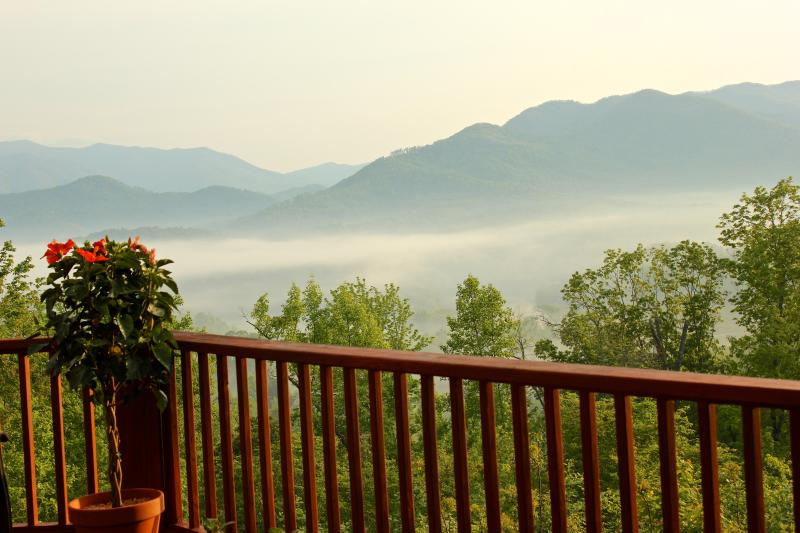 Misty mountain summertime sunrise. - 5-Stars Vacation Home Romantic Luxury Cabin w/ Beautiful Views! - Hayesville - rentals
