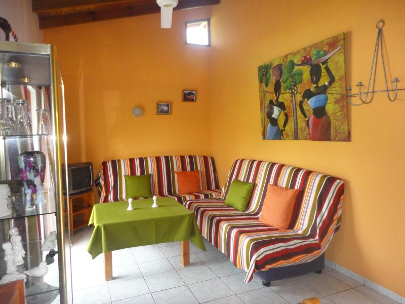Living room - A quiet apartment in tropical jardin near the beach - Las Terrenas - rentals