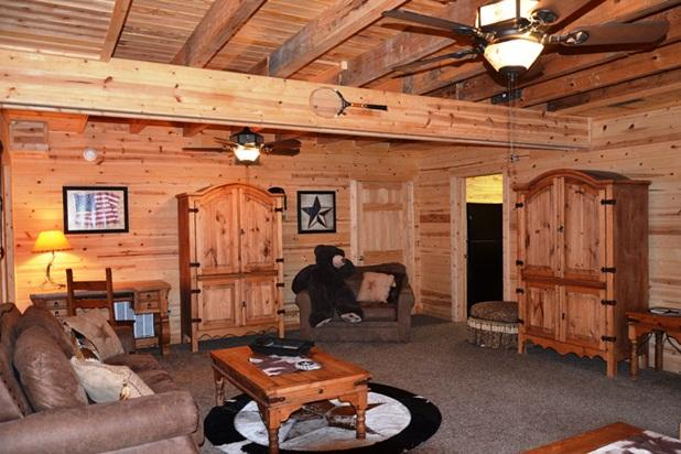 All Wood Cabin with Private Hot Tub secluded HUGE - Image 1 - Ridgedale - rentals
