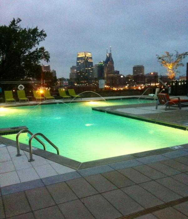 Pool is at the end of building with views of the city! - Luxurious Downtown 1 Bedroom on top floor! - Nashville - rentals