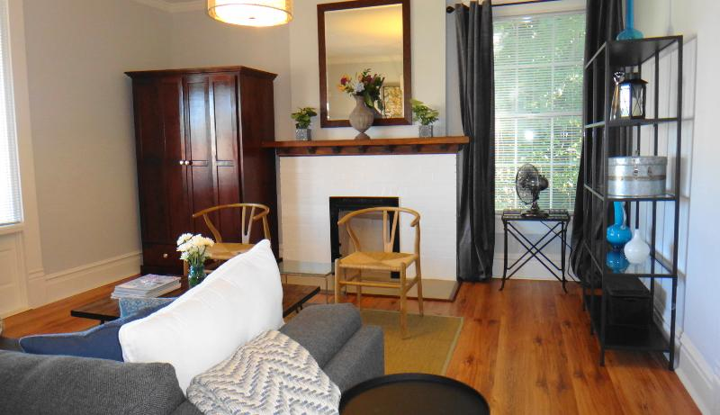 Living Room with smart TV - Beautiful Downtown Flat! Great Location and Style - Chattanooga - rentals