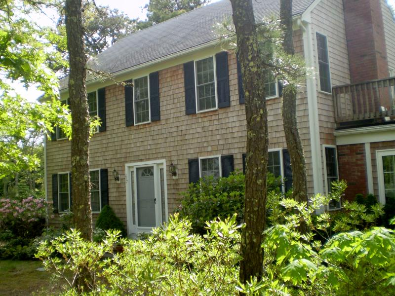 FRONT VIEW OF HOME W/ BIT OF UPPER DECK SHOWING - SWIM, FISH, or RELAX at private Home on Goose Pond - Chatham - rentals