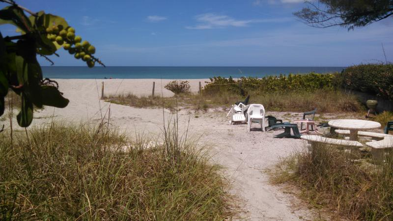 Private beach for your use!  With tables and shady area. - Private Sea Side Beach Home - Venice Island - Venice - rentals