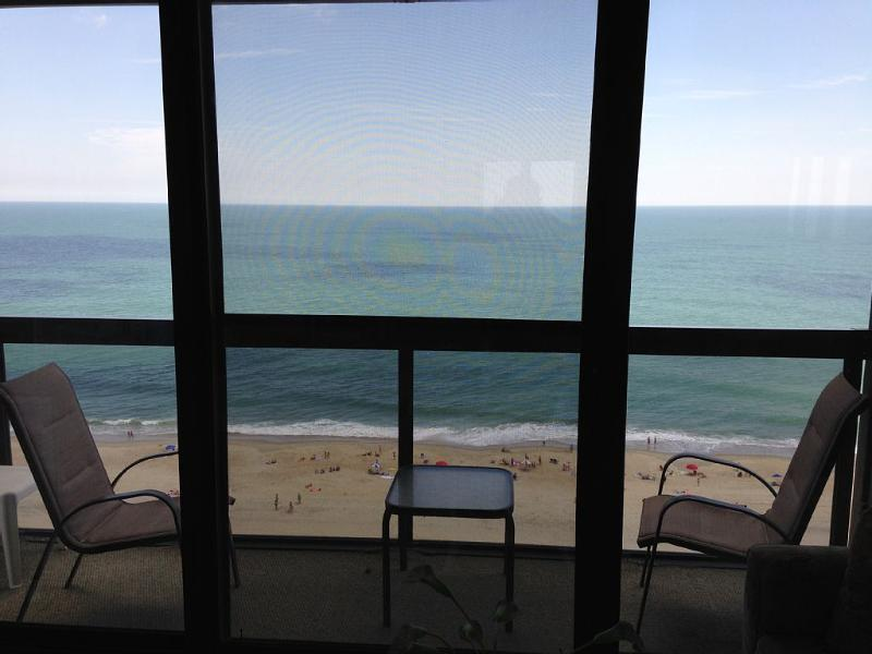 View from your balcony. - Direct Oceanfront *Tiki Bar & Grill MINI-WEEKS* - Ocean City - rentals