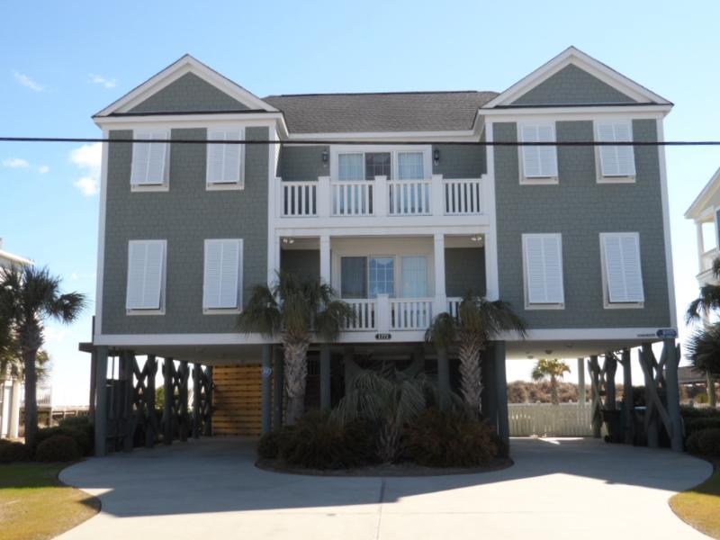 """Opulence"" Street View - Ocean front 7 B/R 7.5 Bath w/ Pool & Hot Tub - Murrells Inlet - rentals"