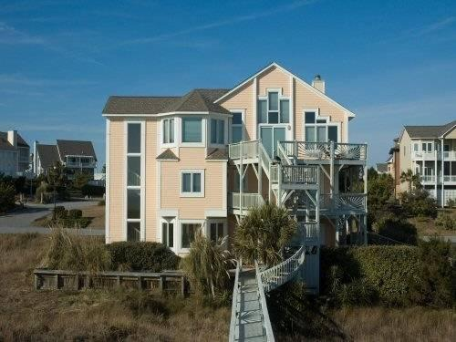 House view from beach side - Ocean Front Beachhouse - Direct Access to the Beac - Emerald Isle - rentals