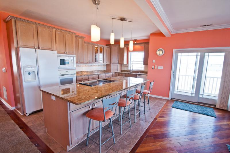 "Exquisite Gourmet Kitchen, The Island is HUGE! - The ""Corner Beach House!"" MANSION ON THE BEACH! - Atlantic City - rentals"