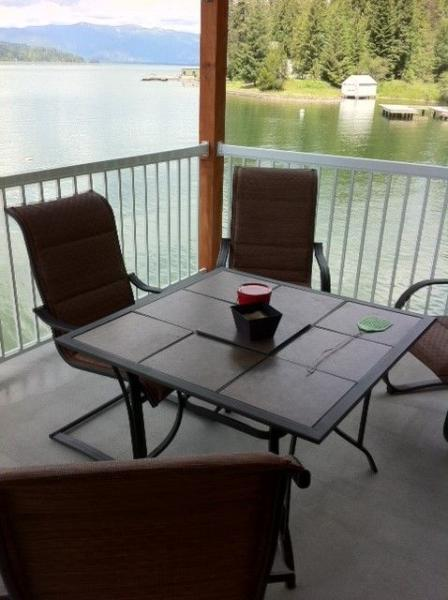 Upper deck over the boat house. - Stay Right on the Water of Bottle Bay! - Sandpoint - rentals
